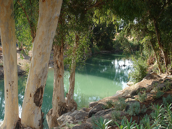 the Jordan River, where John the Baptist baptized repenting sinners