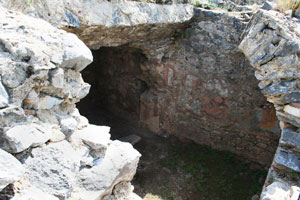 traditional jail cell of Paul and Silas at Philippi